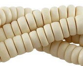 100 pc Nature wood disc beads 8 mm Ivory
