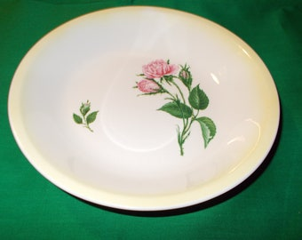 "One (1) 8"" Open Vegetable Bowl from Paden City Pottery in the PCP 38 Pattern."