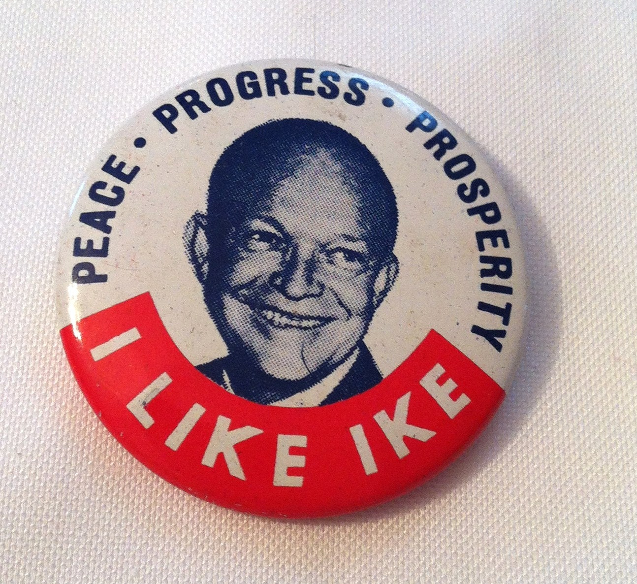 Vintage political button i like ike for Vintage sites like etsy