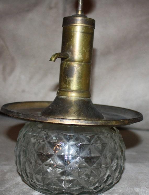 Vintage Park Industries Liquor Pump Server Decanter Glass And
