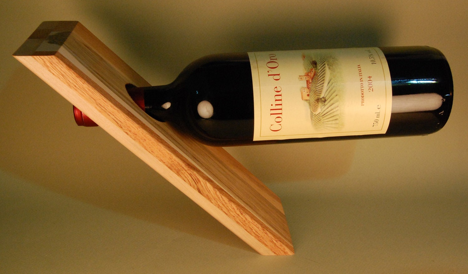 Kinetic wine bottle storage stand custom built from reclaimed - Wine bottle storage angle ...