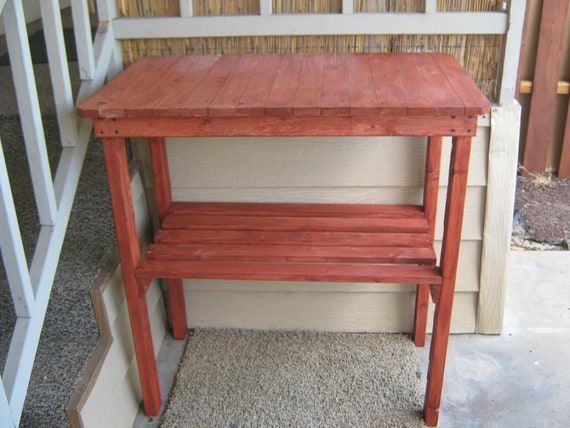 Diy Plans Rustic Garden Table Outdoor Furniture By Wingstoshop