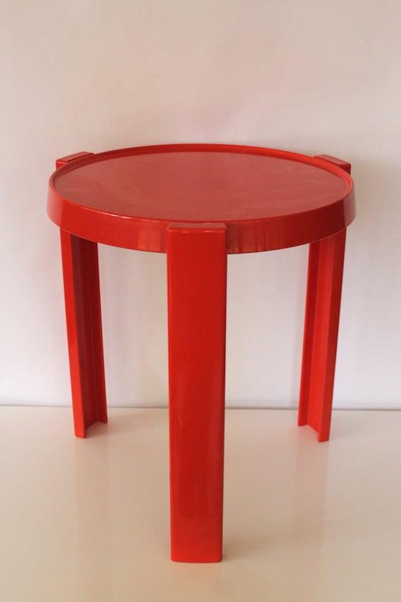 Mod Orange Plastic Side End Table