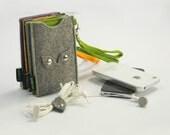 Felt  iPhone 4 iPhone 4S iPhone 5  Sleeve Case Bag Pouch Ear Phone Holder snap buckle :E569