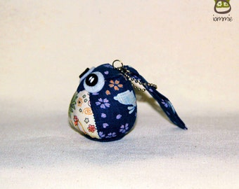 Rabbit - the Little Cute Owl Doll with Bag: plush, keychain, children, kid, baby, boy, girl, kid, japanese, japan, blue, kawaii, iammie