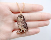 Owl Wooden Laser Cut Necklace