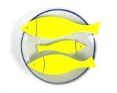 Neon fish - Fish home decor - Yellow home decor- Neon ornaments