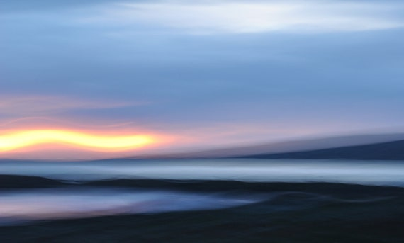 "Abstract Nature Photograph of a Connemara sunset 30""x20"""