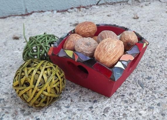 Mosaic square heart box