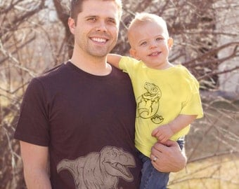 Daddy and Me Dinosaur Shirt Set (Or Mommy and Me)