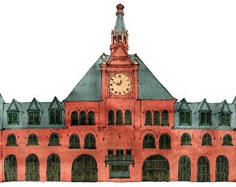 Central New Jersey Rail Road Terminal: illustration and print