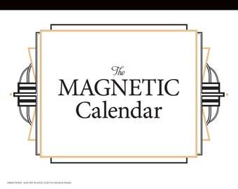 The Magnetic Calendar 2018 - Family Organizer / Refrigerator Calendar-12 month