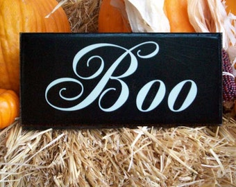Wooden Halloween Sign, Primitive Wall Decor