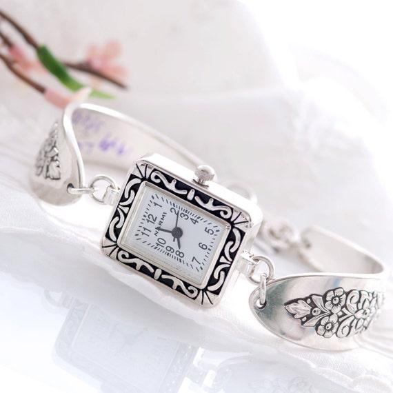 Vintage Spoon Watch - Lady Stuart Silverware Spoon Watch - Spoon Watch - Silverware Watch - Spoon Jewelry - Silverware Jewelr  (mcf  W A049)