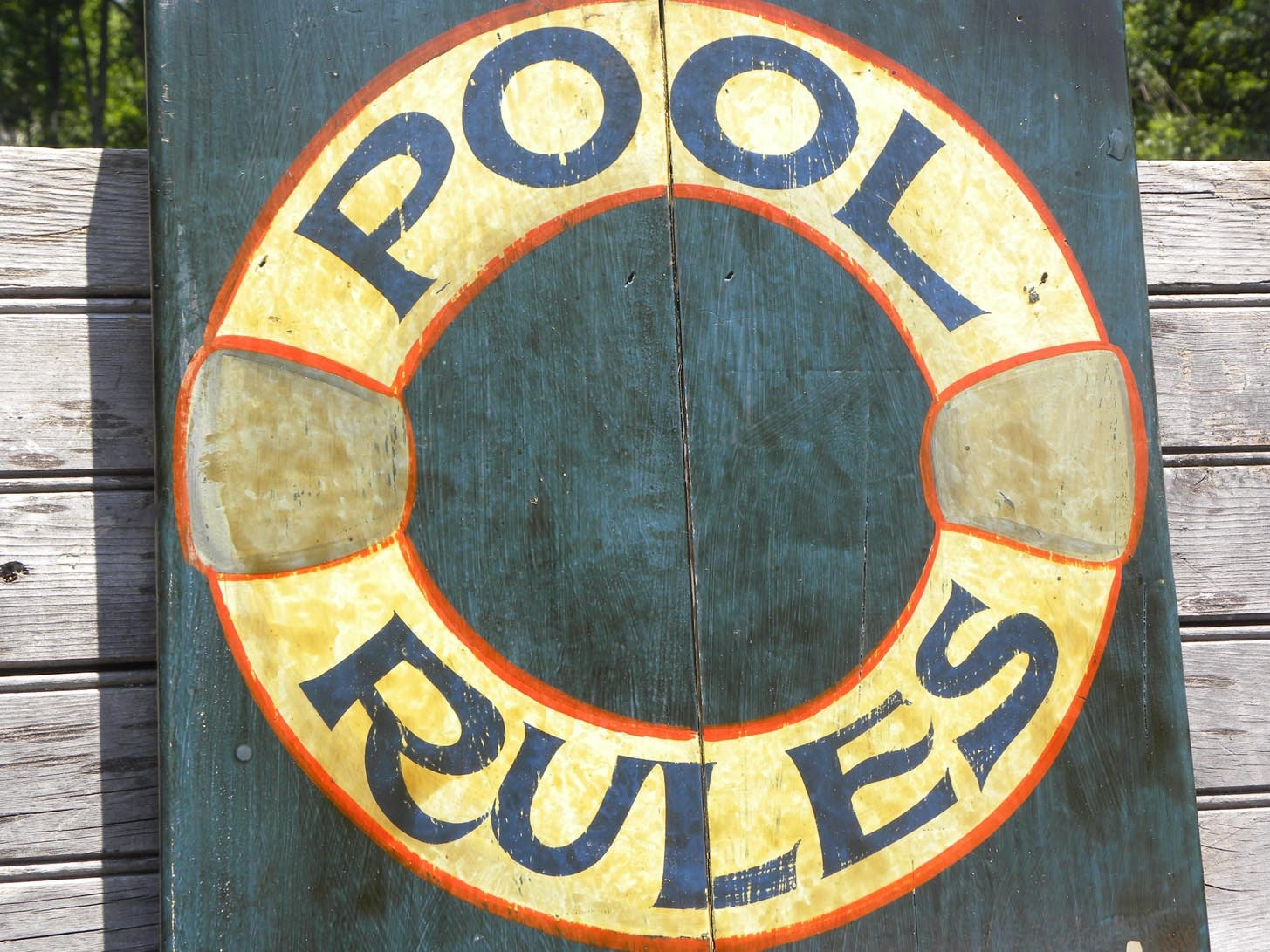 Swimming Pool Rules Sign Woodenoutdoor Original Sign