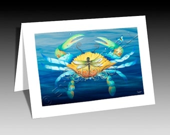 Blue Crab Note Card