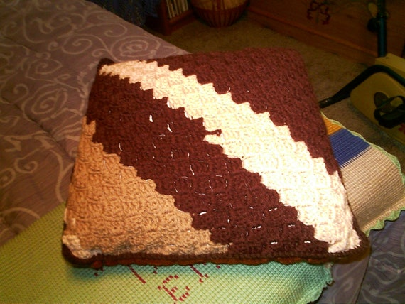 Large Shades of Brown Pillow