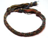Kumihimo Bracelet Fiber Multi Colored Merino Soft Fiber Color Changing Jewelry