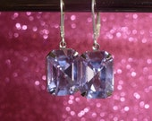 Alexandrite Crystal Drop Earrings