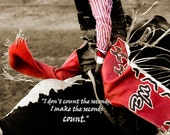 Bull Rider Motivational Quote Note Cards with Chaps Rodeo Eight Seconds