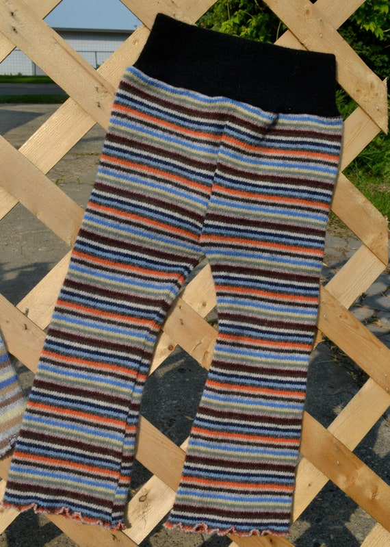 """1 x """"Stripes and Flares"""" wool longies"""