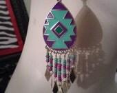 Purple and Teal tribal