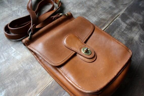 Light Brown Leather Cross-Body Purse