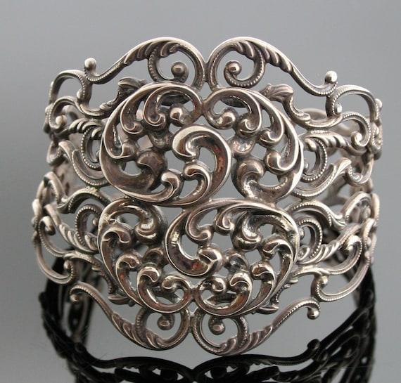 Vintage Danecraft Sterling Silver Cuff Bracelet