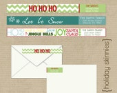 Holiday Skinny Wrap Around Labels - DIY Printing