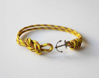 Knots N Anchor Bracelet - Yellow