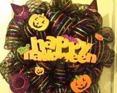 Happy Halloween Deco mesh wreath  SALE