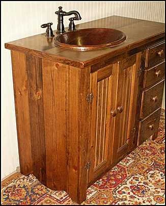 rustic farmhouse vanity copper sink 42 off white bathroom vanity bathroom vanity with. Black Bedroom Furniture Sets. Home Design Ideas