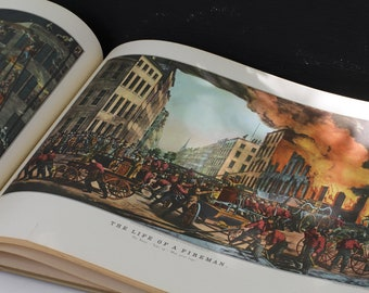 Vintage Coffee Table Book 1950's Currier and Ives America