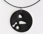 Matte Black Metalic Porcelain Pendant