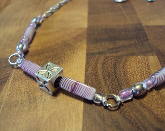 Hip to be Square Purple Necklace