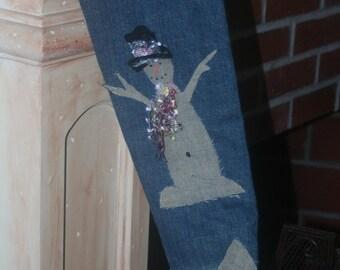 jean snowman stocking