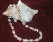 Maxi Pearl Necklace fine jewelry freepearls giant freshwaterpearls mauve lavender pink