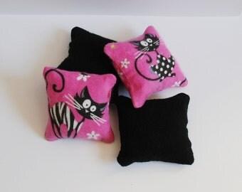 Black Cat Catnip Pillows (set of 4)