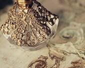 Vintage Gold Filigree Perfume Bottle Shabby Chic Girly Boudoir Photography Print - opus81