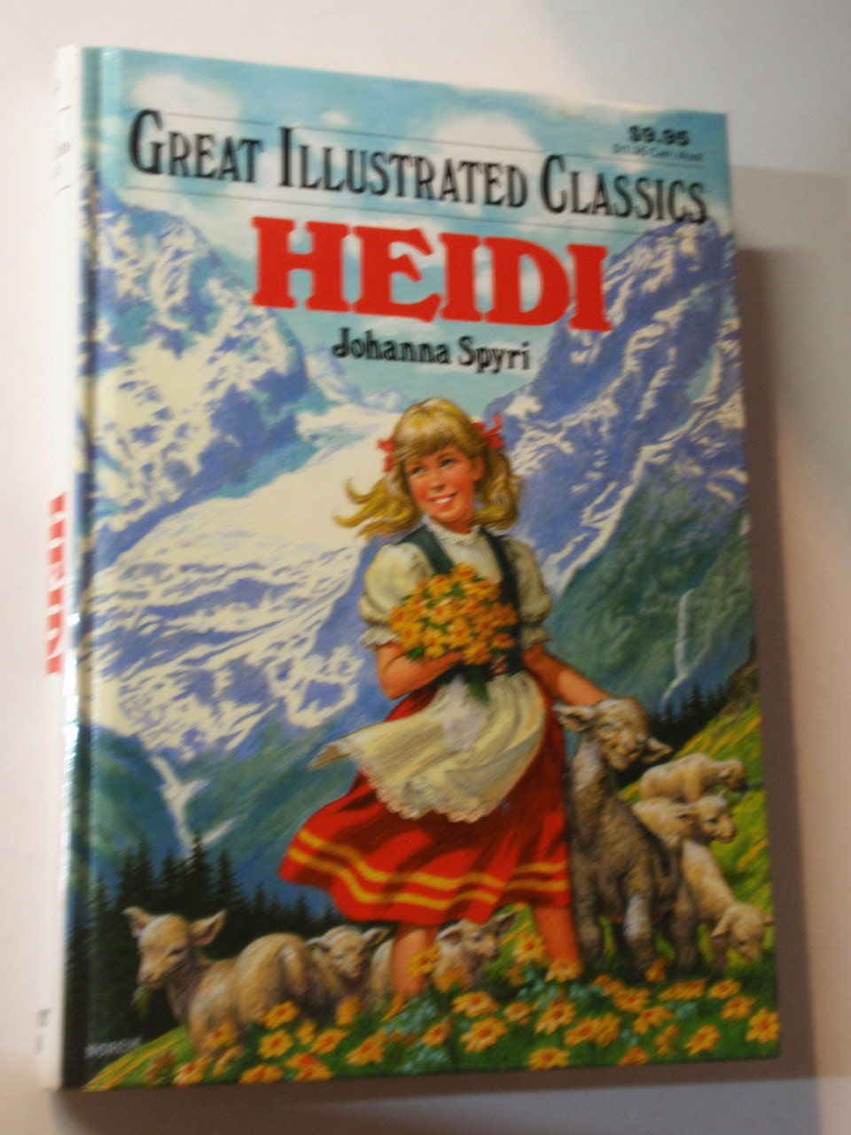 Great Illustrated Book Covers : Half off sale vintage heidi hard cover book great
