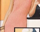 Vintage Crochet Peach Shell Dinner Dress PDF Pattern