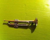 Beau Sterling Trumpet Brooch : Vintage and a Music Lover's Dream