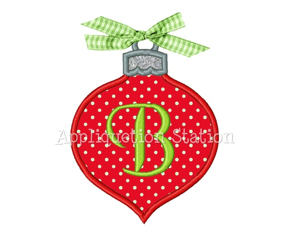 Christmas ornament tear drop applique machine embroidery for How to design a christmas ornament