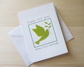 Rosh Hashanah Card, Jewish Judaica Greeting Card, Dove card