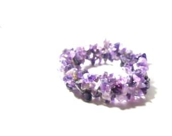 Birthstone bracelet -Amethyst bracelet - Lavender Stretchable Bracelet For Her Under 30 - Free Gift With Purchase