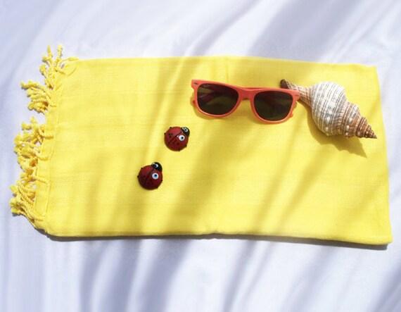 Turkish Bath Towel,Peshtemal, beach towel, hammam towel, Spa Towel-Diamond Silk design -Type5:Yellow