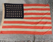 Large Antique 48 Star United States Flag