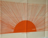 Vintage Hollywood Regency  large Marushka sunburst fabric art panel