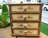 Shabby Chic Gold Leaf Jewelry Box