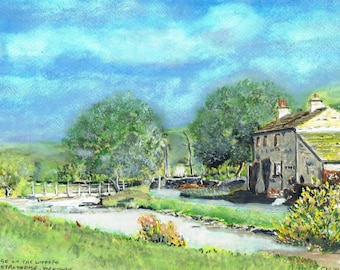 Cottage in Langstrothdale - Print of Original Water Colour by Dave Smith